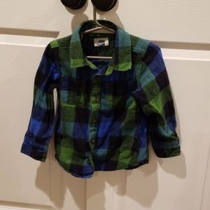 NWOT old navy boys button up flannel